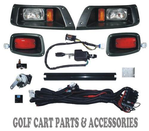 EZGO TXT Golf Cart LED Headlight & Tail Light Kit Deluxe Street Package 1996-13