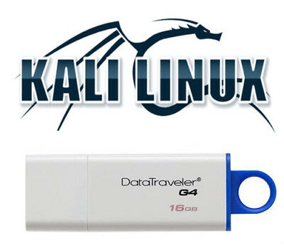 Kali Linux 2018.2 16 Gb 3.0 USB Bootable Live Linux Penetration Testing 64 Bit