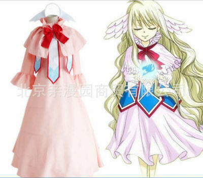 Smile Style Fairy Tail Mavis Vermilion Luxury Long Dress Cosplay Costume SMALL