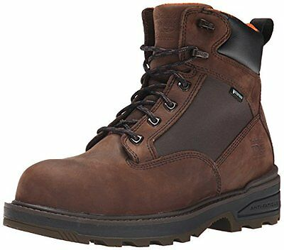 Timberland PRO Men's 6 Inch Resistor Comp Toe WP Work Boot, Brown, 11.5 M US