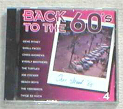 BACK TO THE 60s VOL. 4 sealed cd Pitney FAces Everly Turtles Cocker Yardbirds...