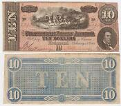 Confederate States of America Ten Dollars