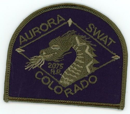 AURORA POLICE COLORADO CO SWAT SUBDUED STYLE #1 PATCH SHERIFF