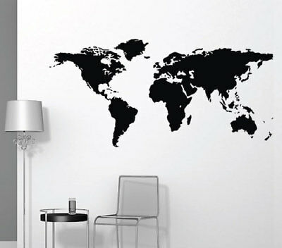 World Map Wall Sticker Home Decor