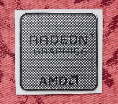 AMD Radeon Graphics Silver Chrome Sticker 17.5 x 17.5mm Case Badge USA Seller