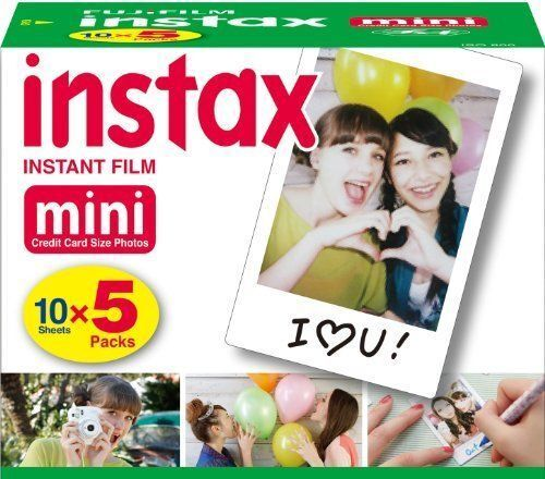 50 Prints Fujifilm Instax Mini Instant Film for 8-9 and all Fuji Mini Cameras