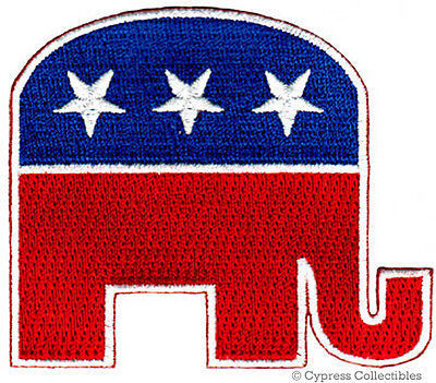 REPUBLICAN PARTY ELEPHANT EMBROIDERED PATCH iron-on GOP POLITICS SOUVENIR new