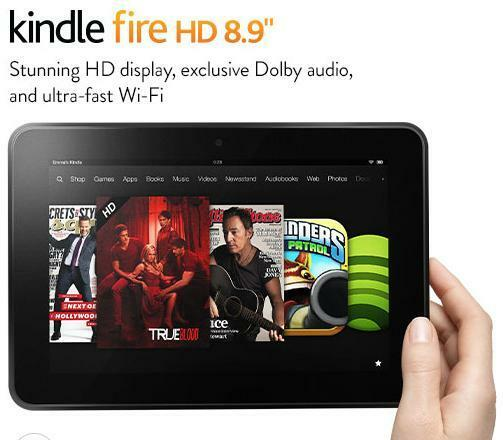 "Certified Refurbished Amazon Kindle Fire HD 8.9"" 64GB 4G+WiFi, FREE 1Yr WARRANTY"