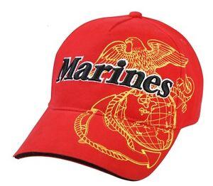 US Army Gorra Béisbol Usmc Rojo en el Aire Screaming Águila Marines Vietnam