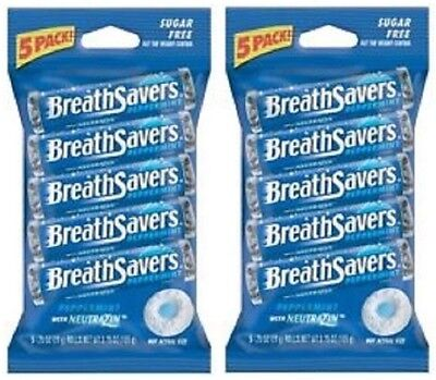 Breath Savers Mint Candy - Breath Savers Peppermint Mints Sugar Free Mint Candy 5 Roll Bag 2 Pack