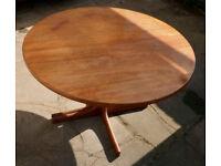 Round Teak Dining Table