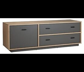 New!!! Darcy Large TV Unit Oak and Charcoal