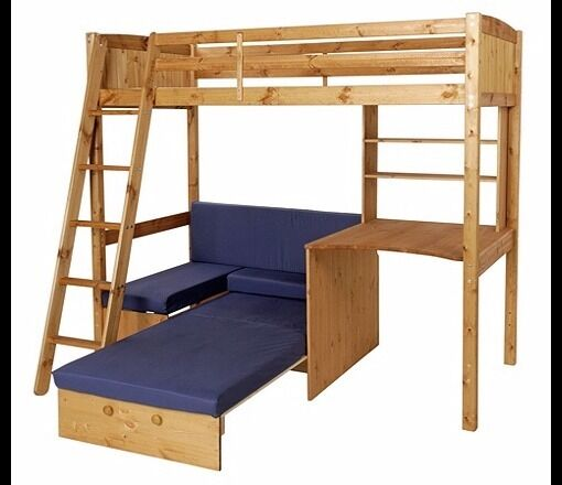 Childs Pine High Sleeper Bed
