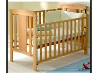 East Coast Katie Drop Side Cot - Beech