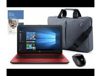 "HP 15"" INTEL PENTIUM 4GB 1TB RED - INC BAG, MOUSE & MCAFEE. BOXED SEALED NEW"