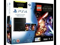 PS4 1TB Console, LEGO Star Wars Game and Star Wars Blu-Ray (BRAND NEW In BOX)