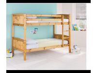 Pine Detachable Single Bunk Bed Frame