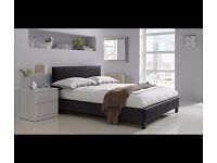 URGENT TO GO Unbuilt chocolate brown small double bed (4ft)