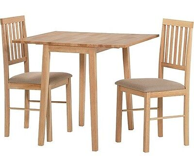 NEW Kendall Drop Leaf Extendable Extending Dining Table & 2 Chairs