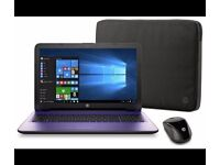 """1year Warranty! HP 15.6"""" Pentium Quad Core 8GB 2TB Laptop + HP Spectrum sleeve and Wireless Mouse"""