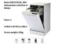 Beko DSFS1531W_WH dishwasher slimline in White