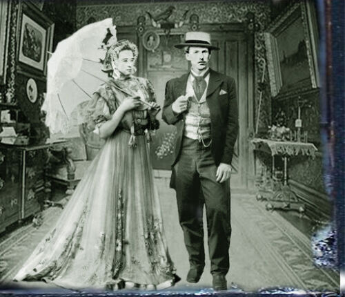 DOC HOLIDAY & BIG NOSE KATE WEDDING POSTER 8X10 PHOTO WILD WEST CORRAL TOMBSTONE