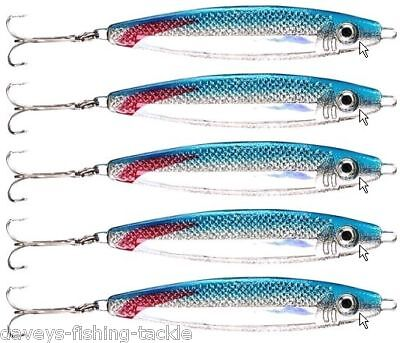 5 BLUE STINGER LURES 60g GAME COARSE SEA FISHING SPINNERS COD PIKE BASS MACKEREL