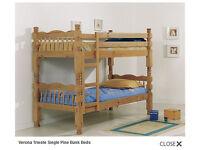 Bunk bed : Verona Trieste Single Pine Bunk Bed
