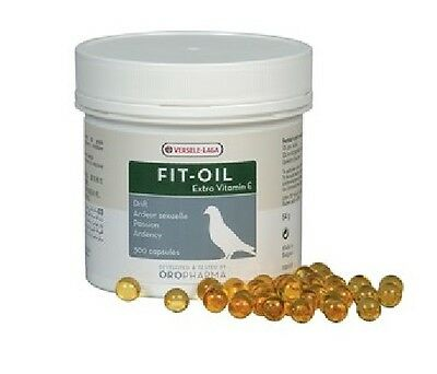 Versele Laga Fit-Oil 300 Capsules Great During Breeding Period Pigeon Food Feed