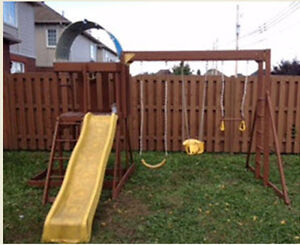 Swing set with Slide- Good Condition