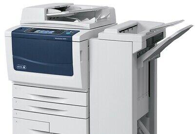 Xerox Workcentre 5865 5875 5890 Bw Copier W External Finisherstaplerpunch