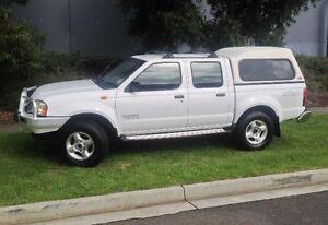 2004 Nissan Navara D22 ST-R (4x4) White 5 Speed Manual Dual Cab Pick-up Melbourne CBD Melbourne City Preview
