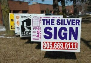 100 LAWN BAG SIGNS $220