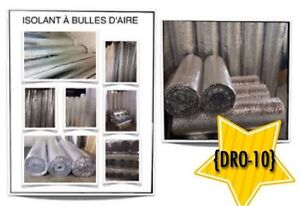 (DRO-10)  ISOLANTS à BULLES D'AIR (0.08$ /P.C)  24.00$ /Rouleaux