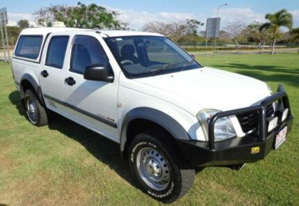 2003 Holden Rodeo RA LX Crew Cab White 5 Speed Manual Utility Townsville 4810 Townsville City Preview