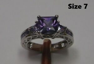 FEBRUARY BIRTHSTONE!! 10K Gold Filled Amethyst rings $20