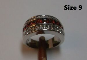 10K-14K Gold Filled Garnet Rings - NEW