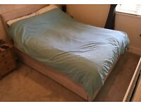 Standard double sized divan bed with matching head board