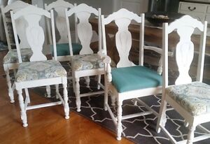 Painted and Reupholstered Jacobean Chairs $100/chair