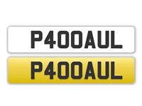 P400AUL - Registration Number Plate. On Retention Certificate ready to transfer