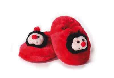 Kinder Hausschuhe Marienkäfer rot geschlossen Gr. 24-26 Pantoffeln - Marienkäfer Kind Schuhe