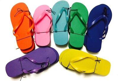 Women's Flip Flops Solid Bright Colors NEW 1/2 Inch Heel Swimming Pool  ()