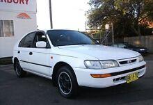 1997 Toyota Corolla AE101R CSi Seca White 4 Speed Automatic Liftback Belmore Canterbury Area Preview