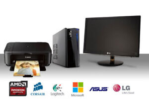 Great deal!!! PC + Monitor + Printer combo $350