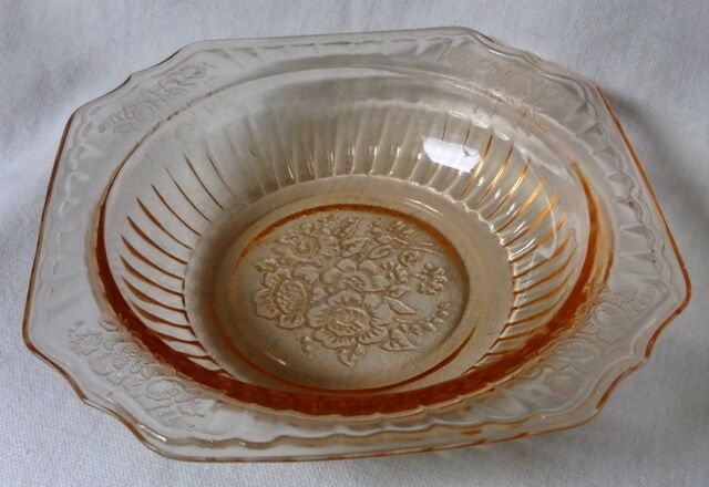 "Mayfair Pink Cereal Bowl 5.5"" Set of 4 Hocking Glass Company"