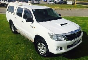 2012 Toyota Hilux KUN26R MY12 SR (4x4) Glacier White 4 Speed Automatic Dual Cab Pick-up Maddington Gosnells Area Preview