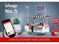 Mobile coffee Cart Wheely's Café (Brand New) To sell £4990