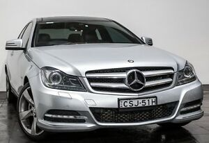 2012 Mercedes-Benz C250 C204 BlueEFFICIENCY 7G-Tronic + Silver 7 Speed Sports Automatic Coupe Rozelle Leichhardt Area Preview