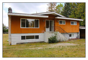 Fully renovated house on a 25000 sq lot for rent. (Cloverdale)