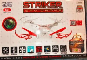 Striker 2.4 Ghz Spy Drone RC Quadcopter, with Onboard Camera
